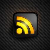 Eps10. Vector design of trendy RSS icon. All elements are fully editable. RGB gamut.