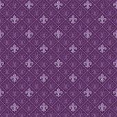 picture of fleur de lis  - fleur de lis seamless pattern - JPG