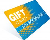 orange-blue gift card