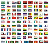 alphabetically sorted flags of the world, Part 1 (A-K) - vector collection