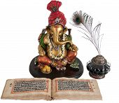 stock photo of hindu-god  - Statue of Lord Ganpati - JPG