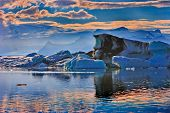 Iceland, Jokulsarlon Lagoon, Beautiful Cold Landscape Picture Of Icelandic Glacier Lagoon Bay, poster