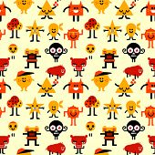pic of funny ghost  - Seamless funny monsters pattern - JPG