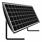Battery Solar Panel Icon. Simple Illustration Of Battery Solar Panel Vector Icon For Web Design Isol poster