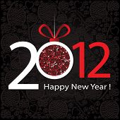 2012 Happy New Year greeting card or background.