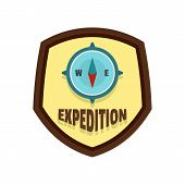 Expedition Logo. Flat Illustration Of Expedition Vector Logo For Web Isolated On White poster