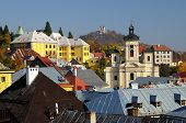 picture of banska  - Parish church and Calvary in Banska Stiavnica - JPG