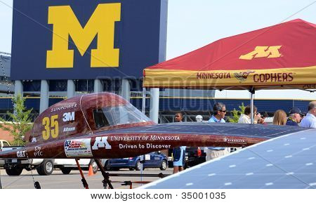 University Of Minnesota Solar Car At The American Solar Challenge