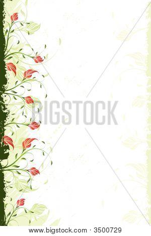 Vector floral Windung Hintergrund