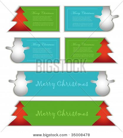 vector card label symbol christmas color