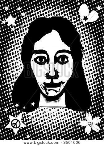 Grunge Comics Goth Girl