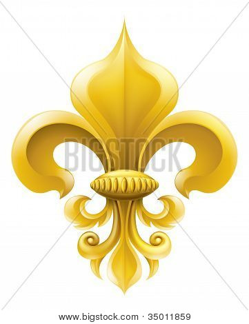 Golden Fleur-de-lis Illustration