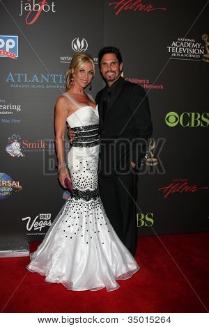 LAS VEGAS - JUN 19:  Cindy Ambuel, Don Diamont arriving at the 38th Daytime Emmy Awards at Hilton Hotel & Casino on June 19, 2010 in Las Vegas, NV.