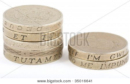 Pound Coin Piles