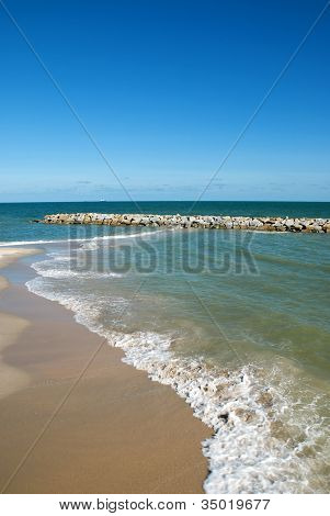 Thai Sea : White Sand Beach And Blue Sky