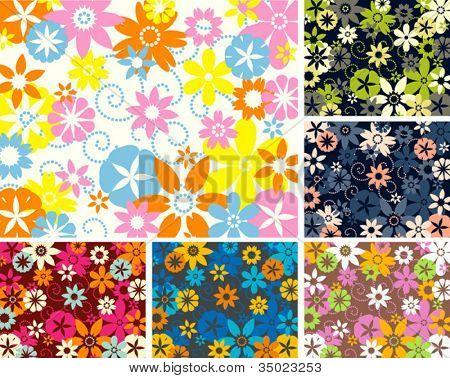 Fondo de estilo retro de flores