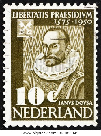 Postage stamp Netherlands 1950 Janus Dousa, Lord of Noordwyck