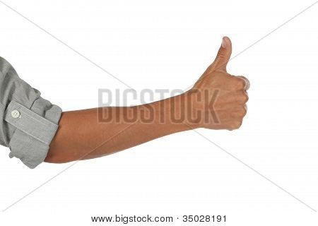 Arm with a thumbs up