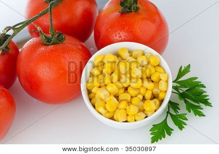 Corn Grains On Bowl