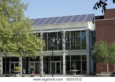 Solar Panels On A Library