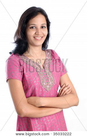 Arms Crossed Female Student