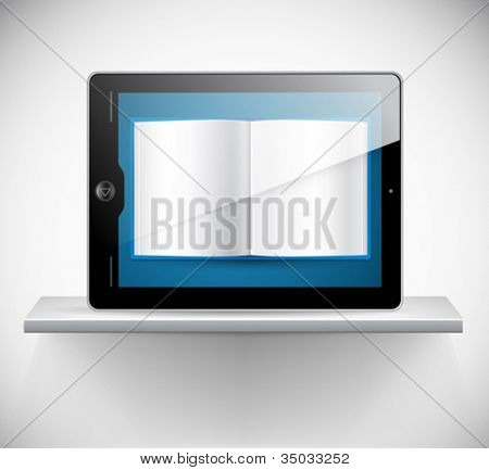 Vector touchscreen tablet and a book reader