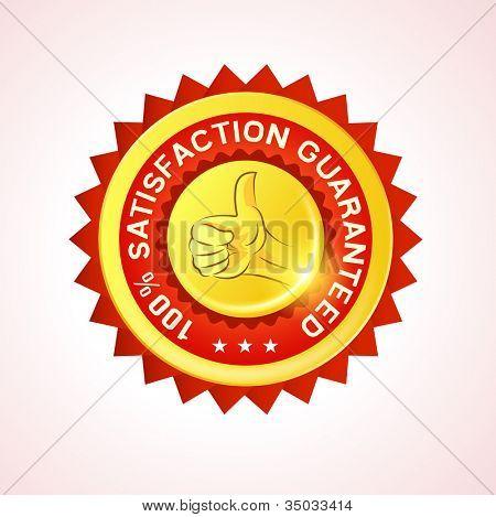 Customer satisfaction Guarantee Vector Badge. Vector illustration