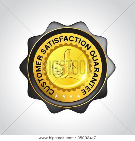 Customer satisfaction Guarantee Vector Badge. Vector illustration