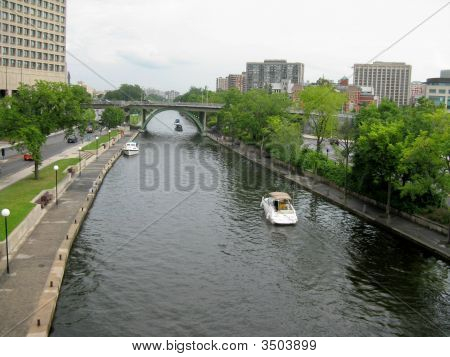 Rideau With Boats