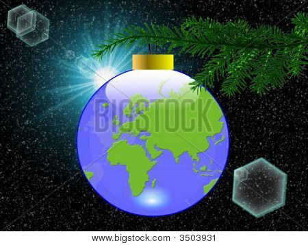 Earth Christmas Ball