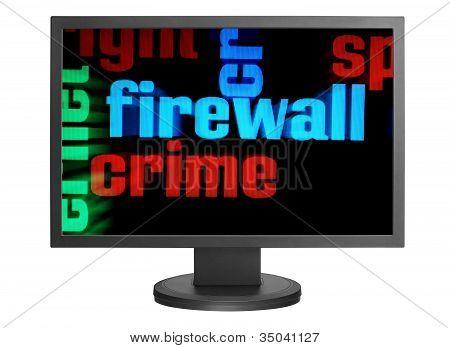 Concepto de crimen de Web