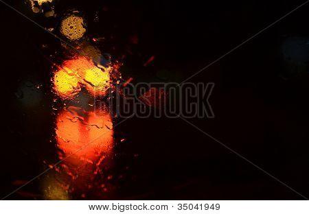 abstrakte Frau in rot und orange