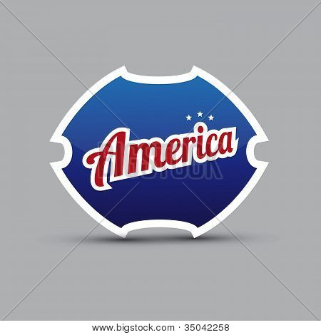 America symbol - blue shield