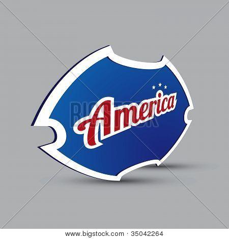 America symbol - blue shield