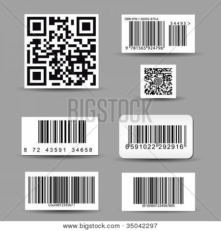 Set of barcode stickers