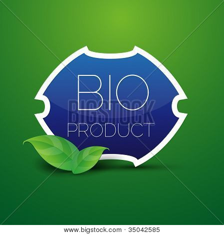 Blue Bio product shield button