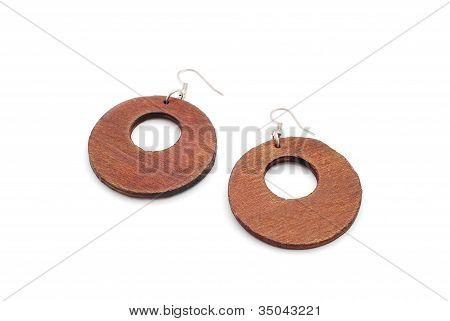 Wooden, Earrings