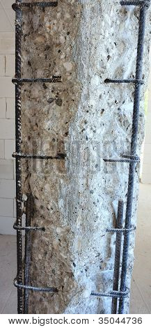 Reinforced concrete pillar to reinforce