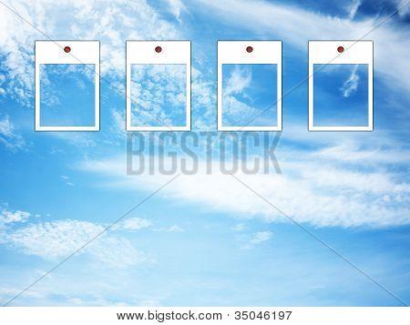 Photo Frame In Blue Sky