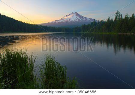 Sunset On Trillium Lake