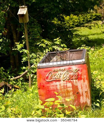 An Old Coca Cola Ice Box
