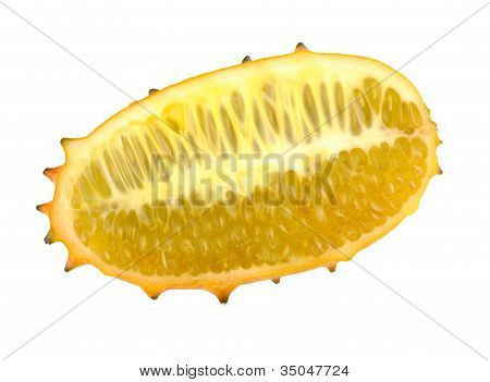 Cut African Horned Melon