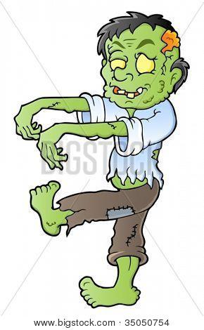 Cartoon zombie theme image 1 - vector illustration.