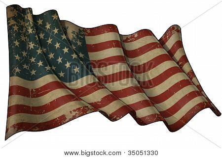 USA Aged Flag