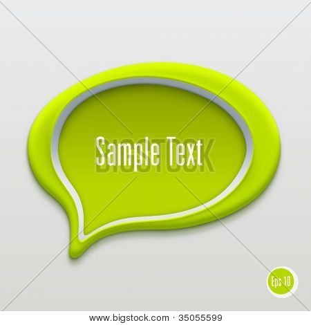 Talk bubble icon. Vector