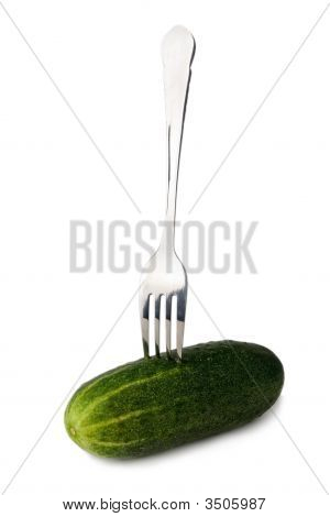 Cucumber On Fork