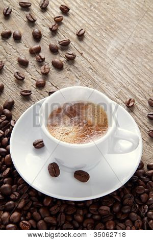 expresso coffee end coffee beans