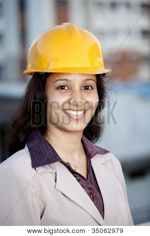 Young Female Construction Engineer