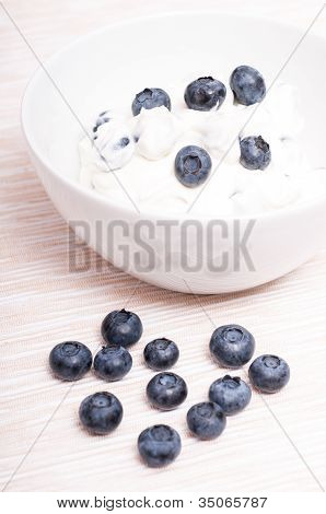 European Blueberries With Curd