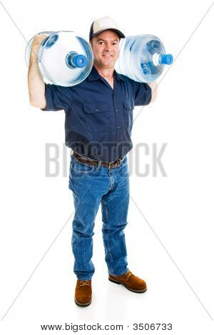 Strong Water Delivery Man